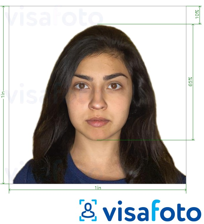 Shembulli i fotos per Filipine RUSH ID photo 1x1 inç me specifikimet ekzakte